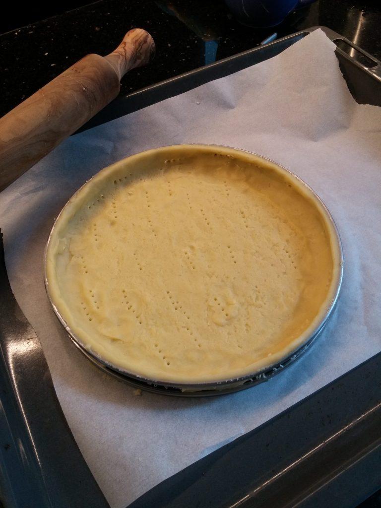 Préparation d'une pâte sucrée