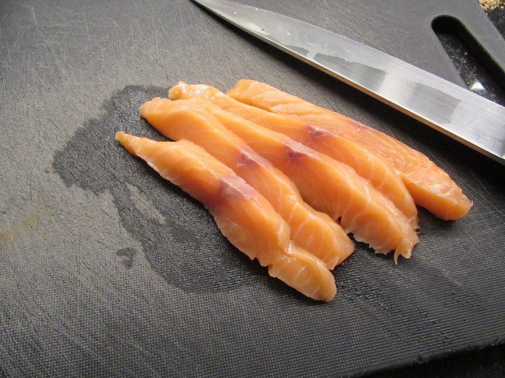 Lanières de saumon