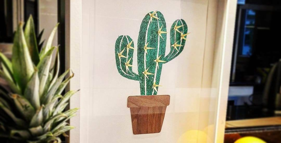 DIY Cactus à paillettes à encadrer
