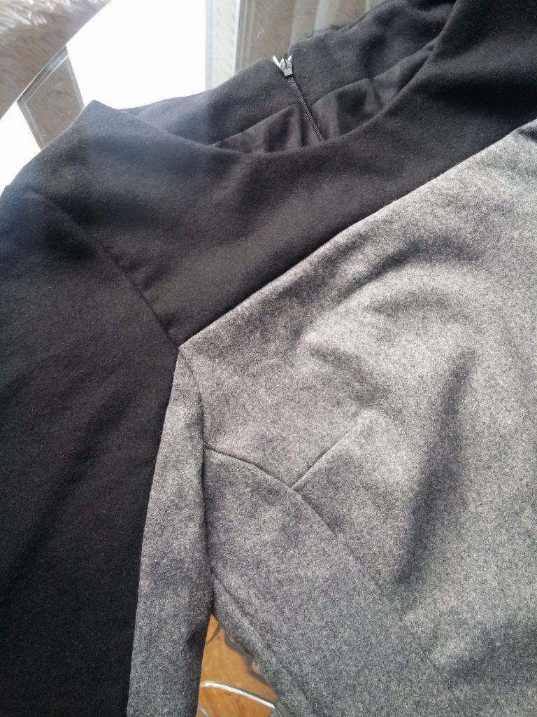 Finitions Robe en laine
