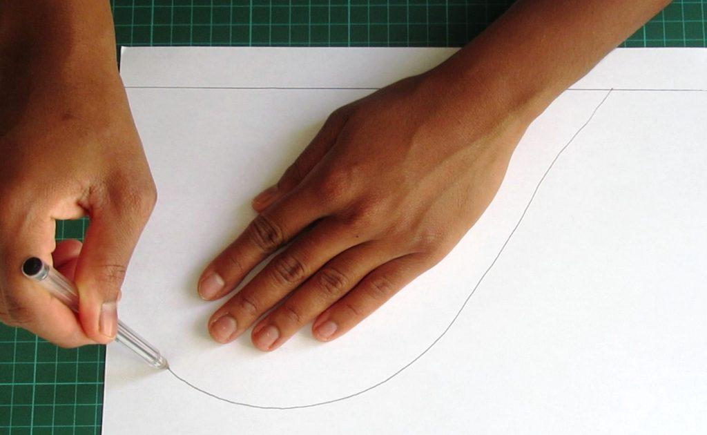dessin de la poche sur feuille