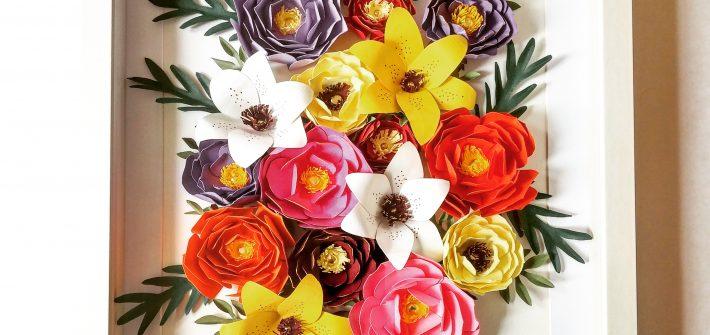 DIY Cadre fleur papier