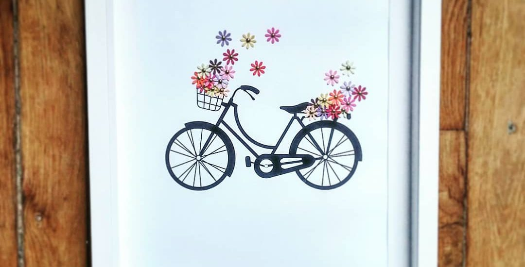 DIY vélo fleuri à encadrer