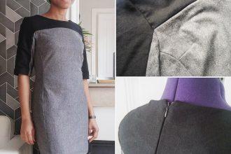 Couture d'une robe en laine