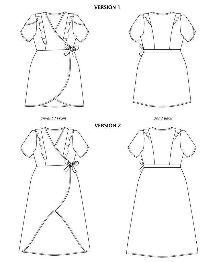 Robe Fleurette - Dessin technique