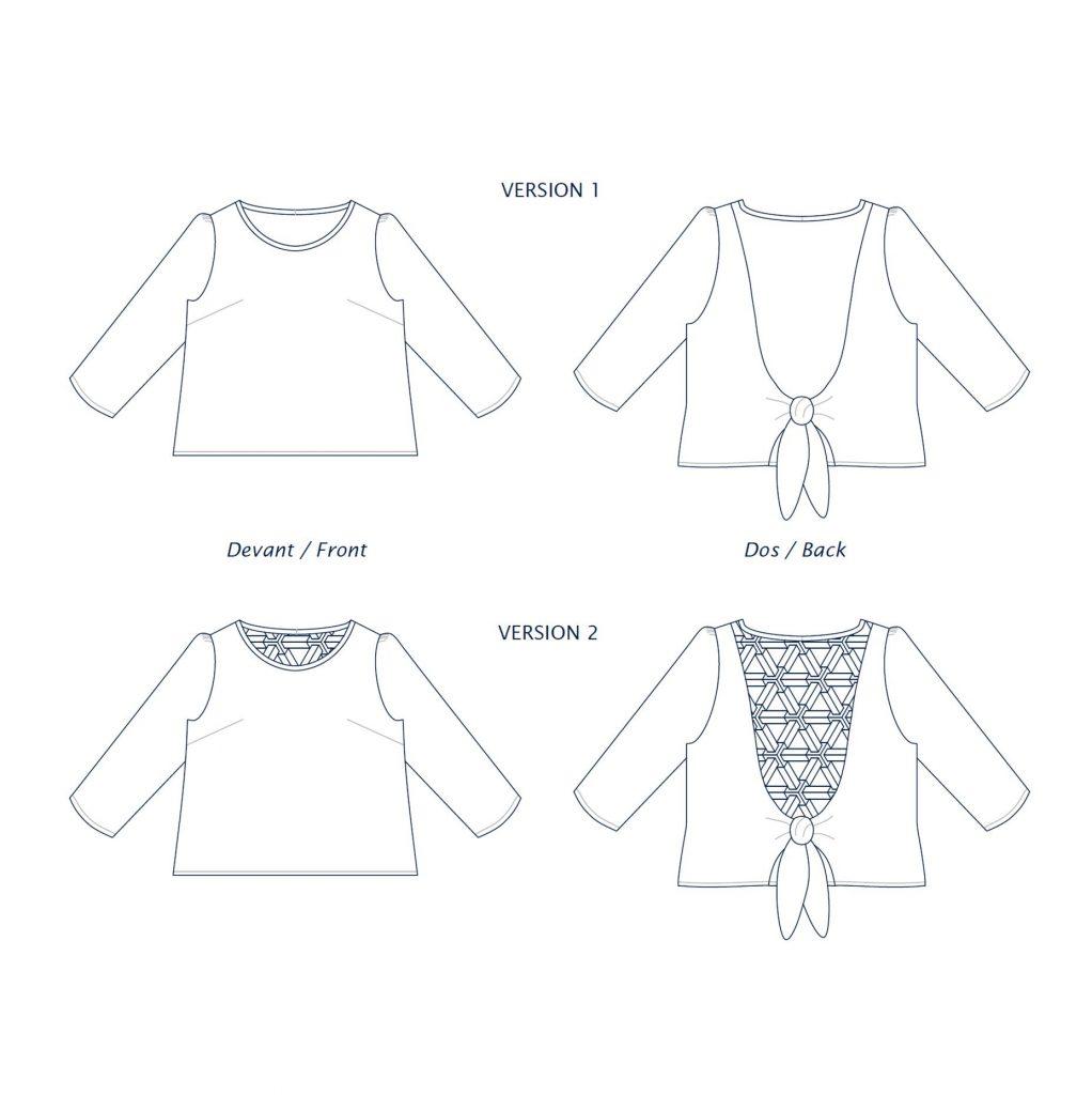 Dessin technique blouse