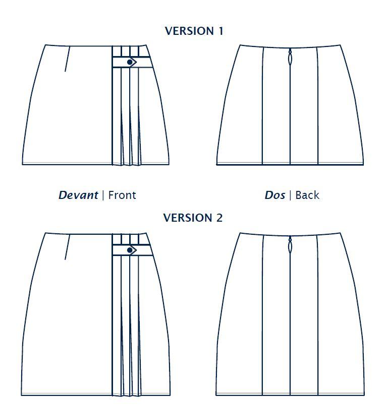 Dessin technique de la jupe Stacey